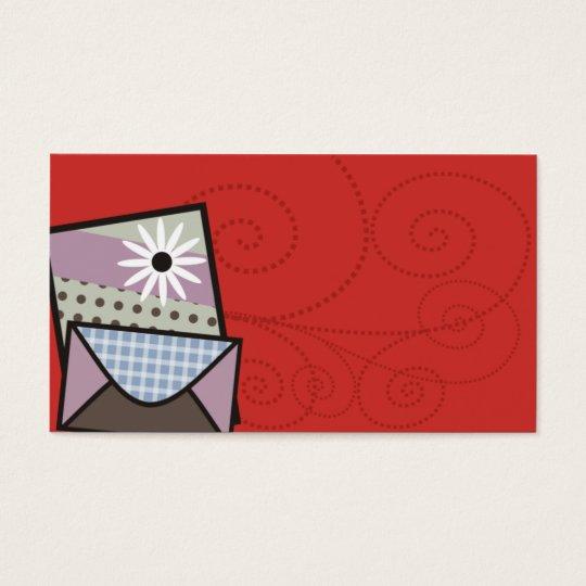 tarjeta de visita hecha a mano de las tarjetas del