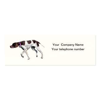 Tarjeta de visita hermosa de la foto del perro ing