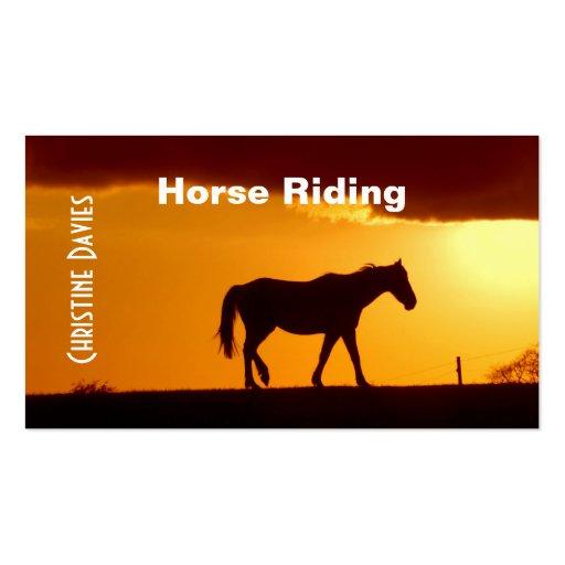 Tarjeta de visita hermosa del montar a caballo