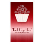 tarjeta de visita hermosa roja de la magdalena