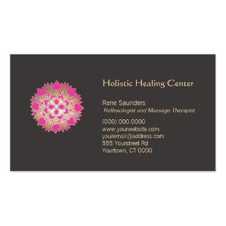 Tarjeta de visita holística rosada de los artes