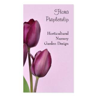 Tarjeta de visita hortícola del tulipán