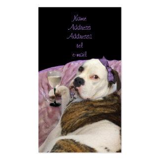 tarjeta de visita inglesa del bulldogge del olde