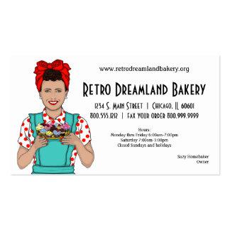 Tarjeta de visita inspirada retra de la panadería