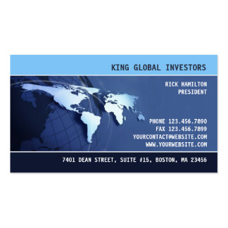 Tarjeta de visita internacional global del mapa