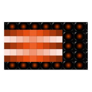 Tarjeta de visita inusual de la ilusión anaranjada