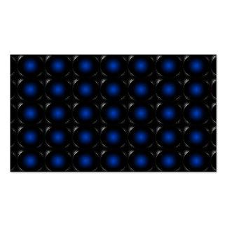 Tarjeta de visita inusual de la ilusión azul 3D 3