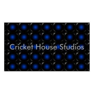 Tarjeta de visita inusual de la ilusión azul 3D 3a