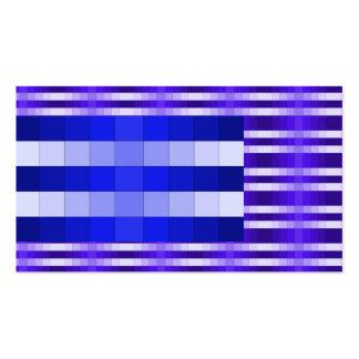 Tarjeta de visita inusual de la ilusión azul marin