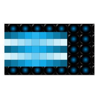 Tarjeta de visita inusual de la ilusión del azul d