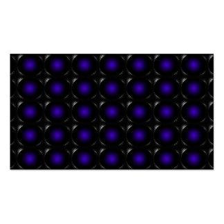 Tarjeta de visita inusual de la ilusión púrpura 3D
