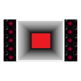 Tarjeta de visita inusual de la ilusión roja 3D 1