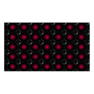 Tarjeta de visita inusual de la ilusión roja 3D 3