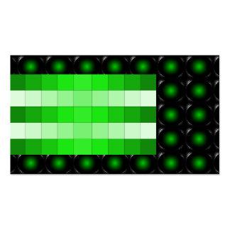 Tarjeta de visita inusual de la ilusión verde 3D 5