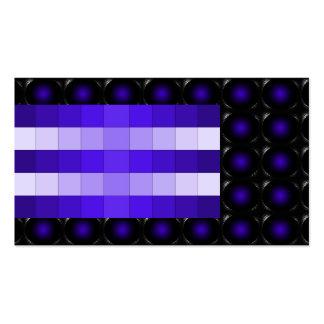 Tarjeta de visita inusual de la ilusión violeta 3D