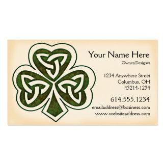 Tarjeta de visita irlandesa del diseño 1 céltico d