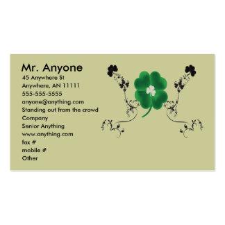 Tarjeta de visita irlandesa del orgullo