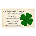 Tarjeta de visita irlandesa:: Diseño verde del tré