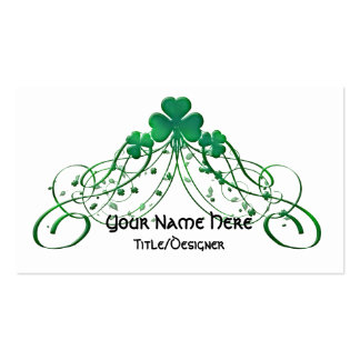 Tarjeta de visita irlandesa:: Trébol y vides irlan