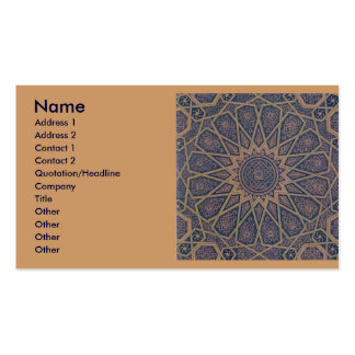 Tarjeta de visita islámica de la impresión