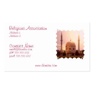 Tarjeta de visita islámica de la mezquita
