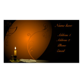 Tarjeta de visita islámica del diseño de la vela
