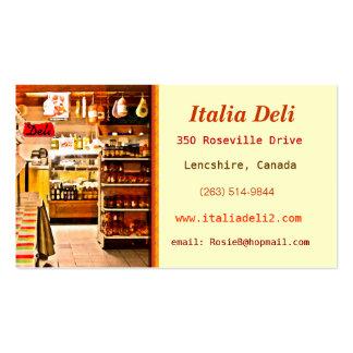 Tarjeta de visita italiana intrépida de la tienda
