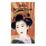 tarjeta de visita japonesa del boutique del zen de