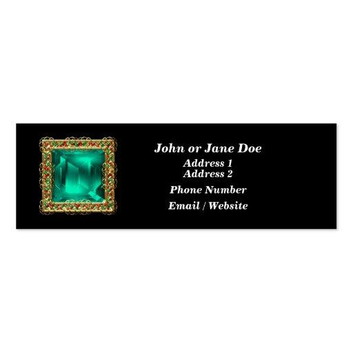 Tarjeta de visita Jeweled