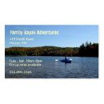 Tarjeta de visita Kayaking recreativa