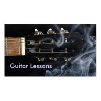 Tarjeta de visita: Lecciones de la guitarra