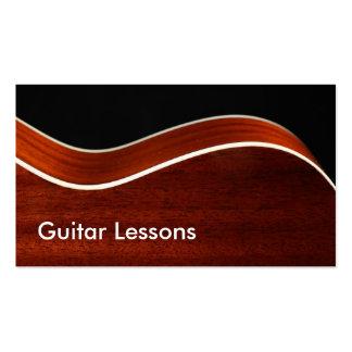 Tarjeta de visita: Lecciones de la guitarra Tarjetas De Visita