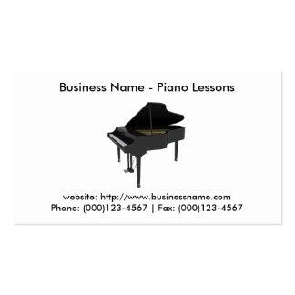 Tarjeta de visita: Lecciones de piano Tarjetas De Visita