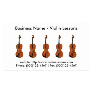 Tarjeta de visita: Lecciones de violín Tarjetas De Visita