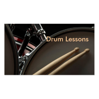 Tarjeta de visita Lecciones del tambor