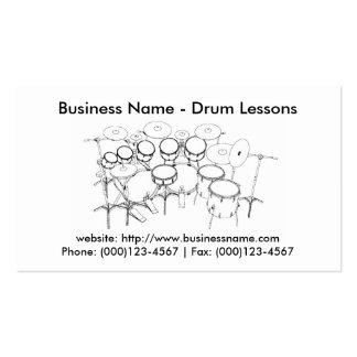 Tarjeta de visita: Lecciones del tambor