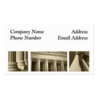 Tarjeta de visita legal del abogado del abogado