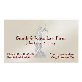 Tarjeta de visita legal del símbolo del abogado de
