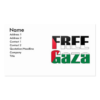 Tarjeta de visita libre de Gaza