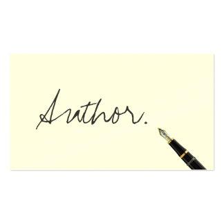 Tarjeta de visita libre del autor de la escritura