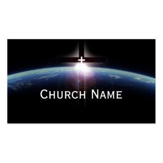 Tarjeta de visita ligera cruzada santa del pastor