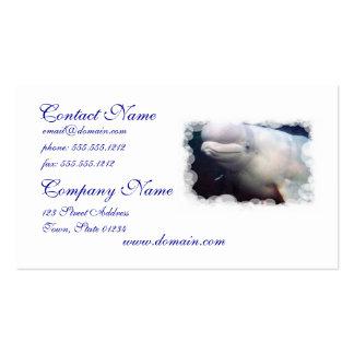 Tarjeta de visita linda de la ballena de la beluga