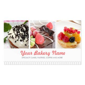 Tarjeta de visita linda de la panadería con 4 foto