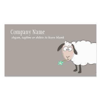 Tarjeta de visita linda de las ovejas
