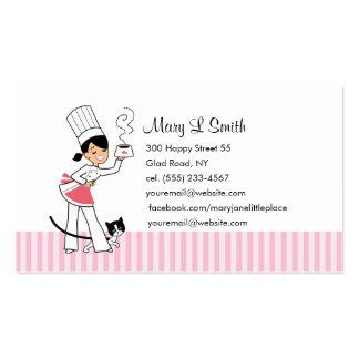 Tarjeta de visita linda del cocinero - personaliza