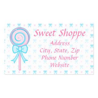 Tarjeta de visita linda del Lollipop