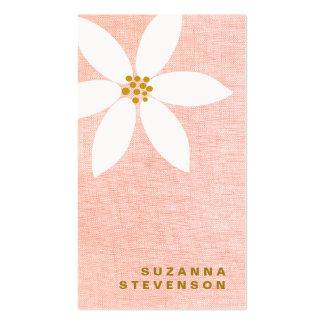 Tarjeta de visita linda del rosa de la flor de la