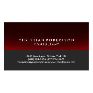 Tarjeta de visita linda roja gris del consultor