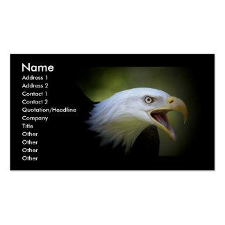 Tarjeta de visita lisa del ébano con Eagle