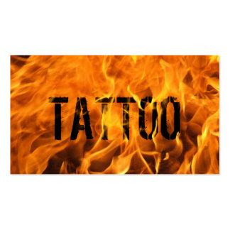 Tarjeta de visita llameante caliente del tatuaje d